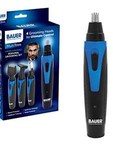 Bauer 39179 USB Rechargeable Personal Grooming Set | 4 Interchangeable Heads £10.99 (Prime) / £15.48 (non Prime) at Amazon