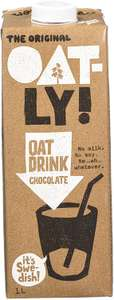Oatly Chocolate Drink 1 Litre (Pack of 6) - £9 (Prime) £13.49 (Non Prime) @ Amazon