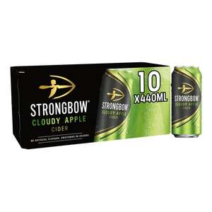 Strongbow Cloudy Apple Cider 10 X 440ml for £6 @ Tesco