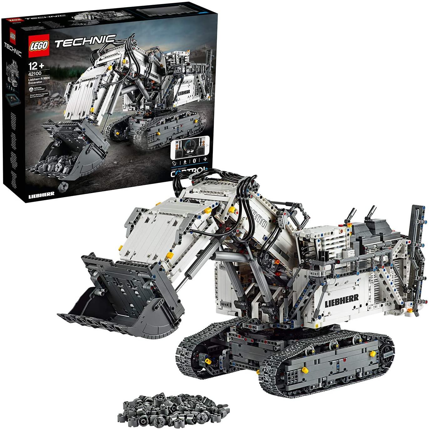 LEGO 42100 Technic Control+ Liebherr R 9800 Excavator App Controlled Advanced Construction Set £299.99 @ Amazon