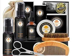Upgraded Beard Grooming Kit - £12.91 (Prime) £17.40 (Non Prime) @ Sold by YEWE and Fulfilled by Amazon.