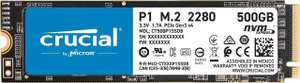 Crucial CT500P1SSD8 P1 500GB NVME PCIe SSD - £63.43 @ Amazon