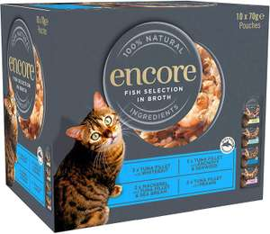 Encore Natural Wet Cat Food, 4 x 10 x 70 g - Pack of 4 (40 pouches total) £25.50 @ Amazon