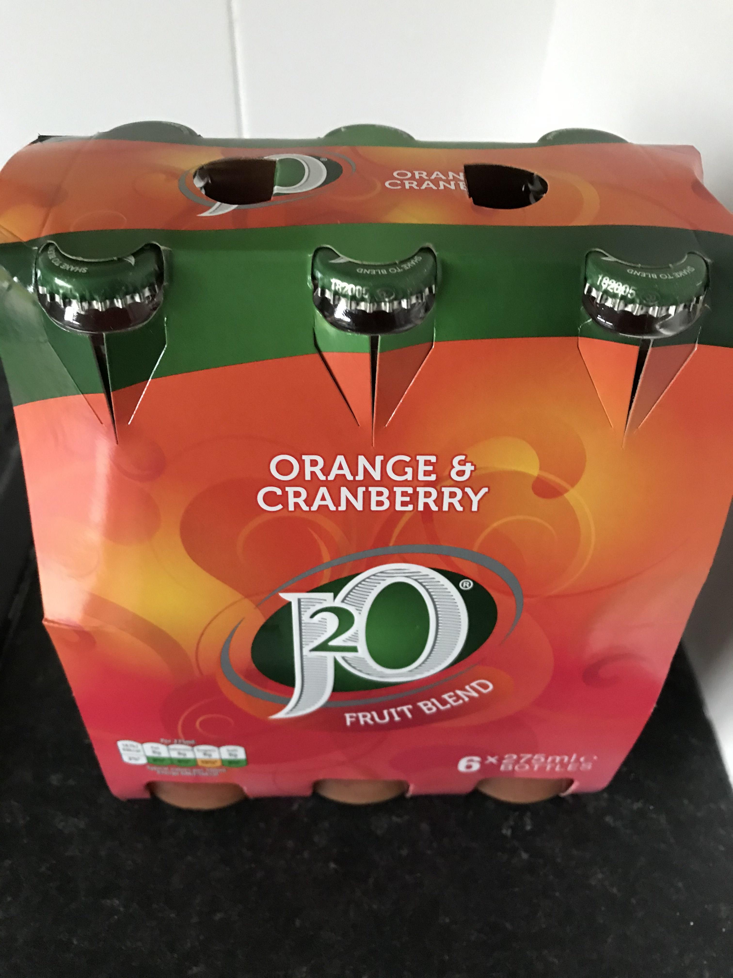 J20 Orange & Cranberry x6 bottles £1.99 @ Home Bargains (Hull)