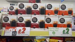 Dolce Gusto Americano and Lungo, £2 per 16 pods box, in store Fultons Sheffield city centre