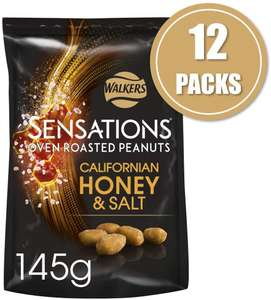 Sensations Californian Honey and Salt Roasted Peanuts 145g x 12 packs for £10.55 (Prime) / £15.04 (Non Prime) delivered @ Amazon
