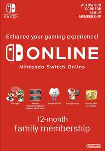 Nintendo Switch Online 12 Month (365 Day) Family Membership Download - £24.85 @ ShopTo