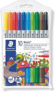 Staedtler Noris Club Double Ended Fibre Tips (pack of 10) - £3.75 Prime (+£4.49 Non Prime) @ Amazon