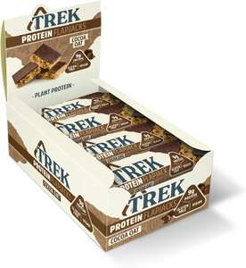 TREK High Protein Flapjack Cocoa Oat, 50 g Vegan 16 Protein Bars - £8.13 @ Amazon (+£4.49 non-prime)