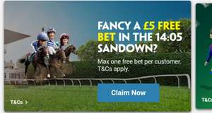 Free £5 Bet on the Sandown 14:05 via Paddy power