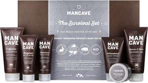 ManCave Survival Gift Set - 6 Natural Grooming Essentials - £16.99 (With £3 Voucher) @ Amazon Prime / £21.48 Non Prime