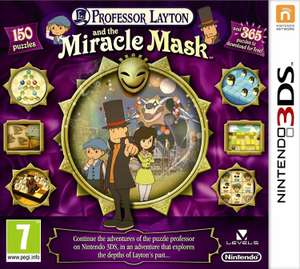 Professor Layton & The Miracle Mask Nintendo 3DS Game - £7.49 (free click and collect or £3.95 del) @ Argos