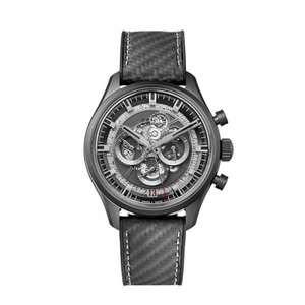Zenith Chronomaster El Primero Skeleton Carbon Fibre Strap 45MM Watch £5340 @ Burrells