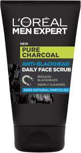 L'Oreal Men Expert (Pure Charcoal Daily Face Scrub | Blackhead Targeting Cleanser for Men) 100ml for £2.12 Prime / £6.61 Non Prime @ Amazon