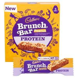 Cadbury Brunch Bar Peanut 5pk - 49p instore at FarmFoods (Walsall) should be nationwide