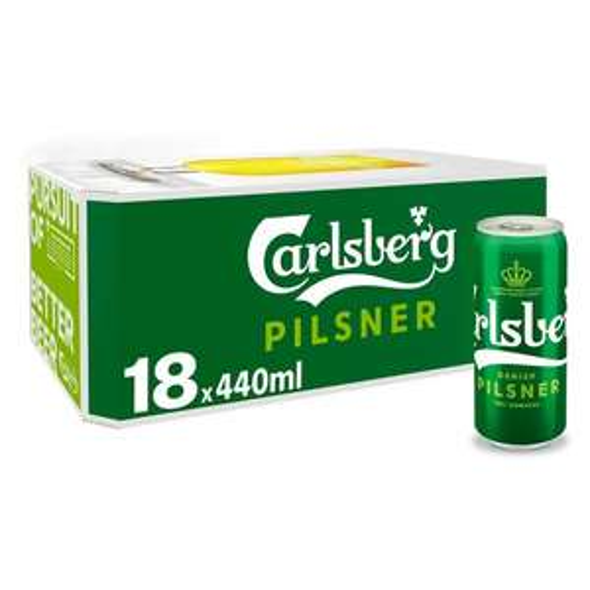 Carlsberg Pilsner 18 cans, 440ml, £11 Tesco (Bletchley)