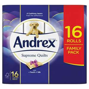 Andrex Supreme Quilts toilet paper/tissue x16 reduced to £4.75 instore @ Tesco express, Leicester