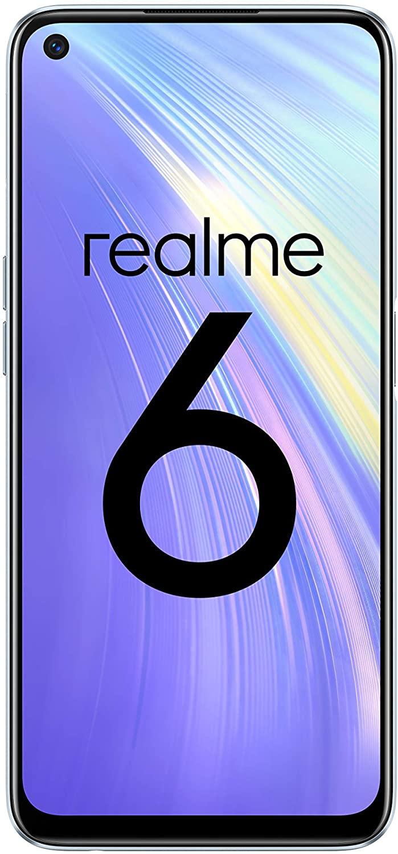 "realme 6 6.5"" Smartphone, 4 GB RAM + 64 GB ROM, Helio G90T Quad AI 64MP Camera Dual Sim Comet White - £164.05 @ Amazon Spain"
