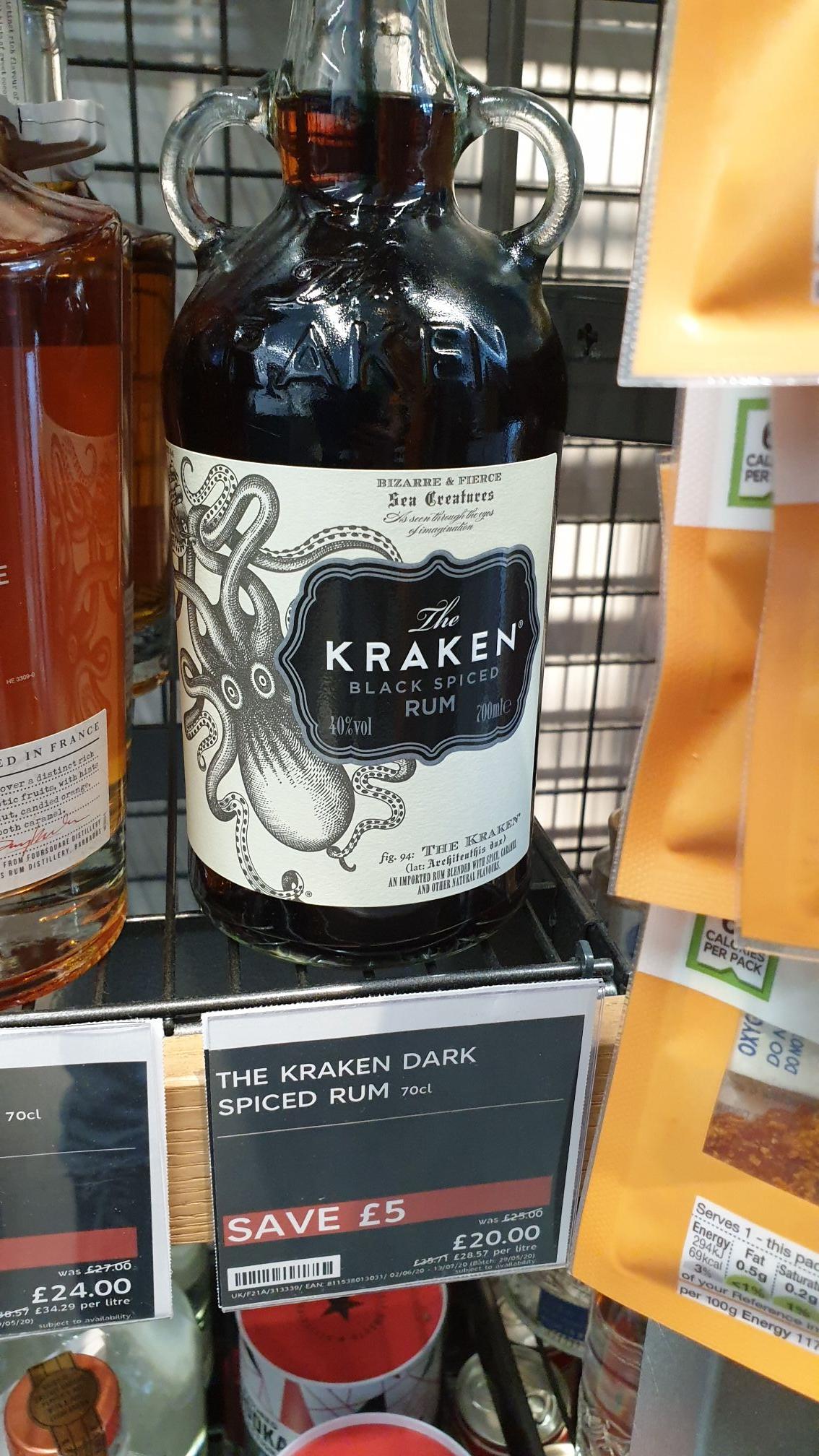 Kraken Rum. In store. M&S Sheldon £20 (£5 off)