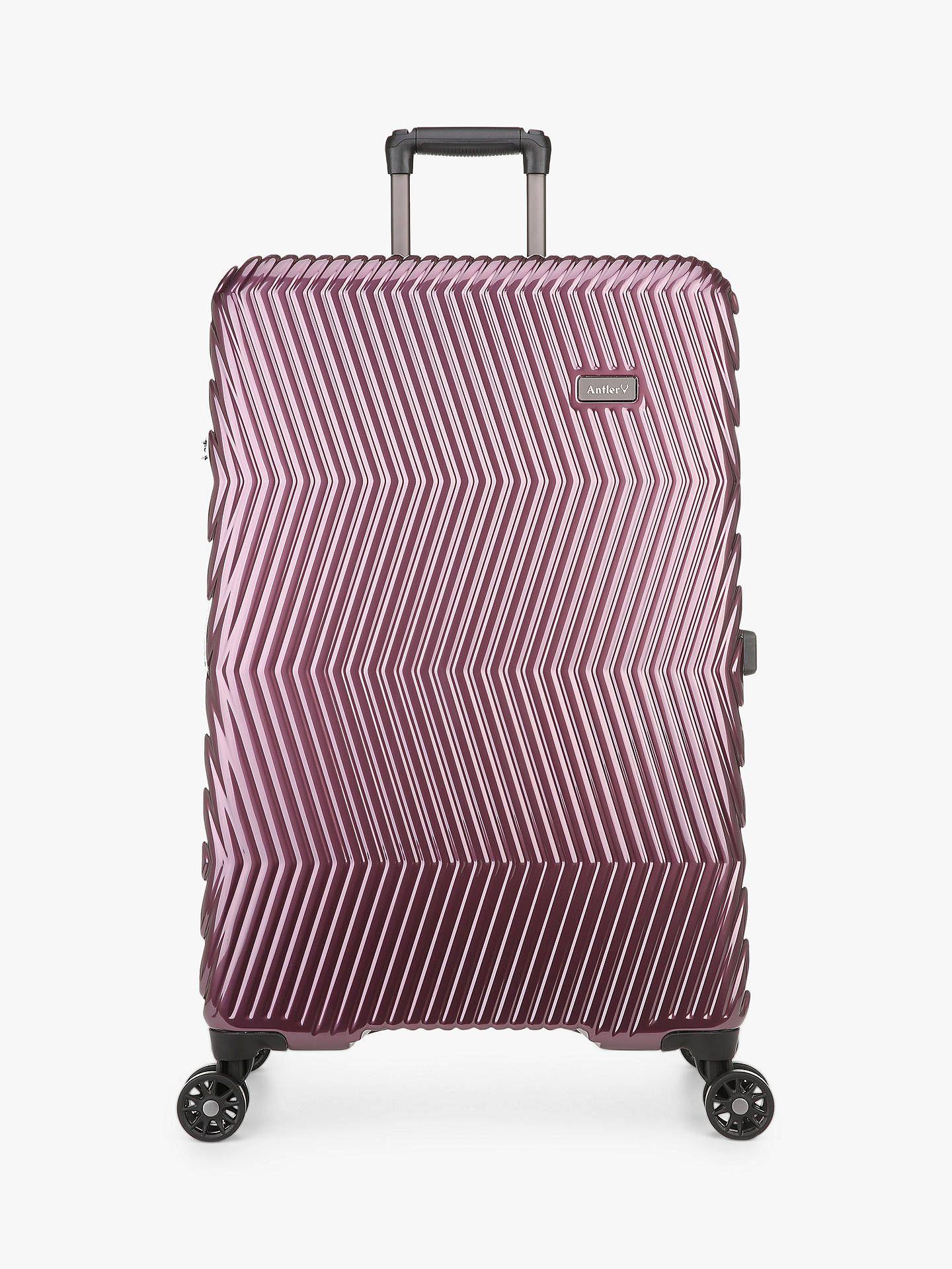Antler Viva 4-Wheel 80cm Large Suitcase, Aubergine at John Lewis & Partners for £73.50