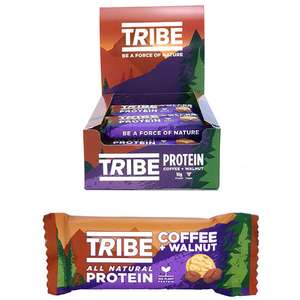 BBE: July 2020 - 16 x Tribe All Natural Protein Coffee + Walnut 50g Bars £10.00 at Yankee Bundles