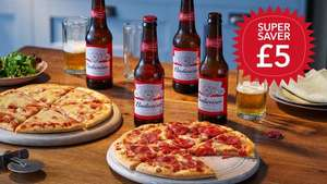 Coop super saver 2 pizzas and Budweiser £5 at Co-operative