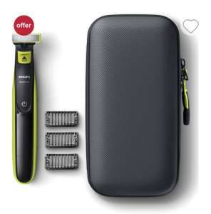 Philips OneBlade Trimmer & Travel Case £24.22 with code +£3.50 delivery @ Boots