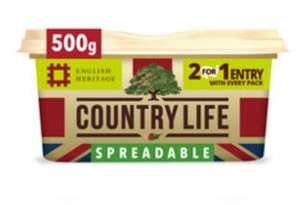 Country life spreadable butter 500gm £2 at Asda