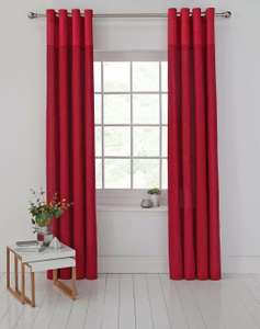 Argos Home Dublin Unlined Eyelet Curtains - 229x229cm - Red- £9.99 @ Argos / eBay