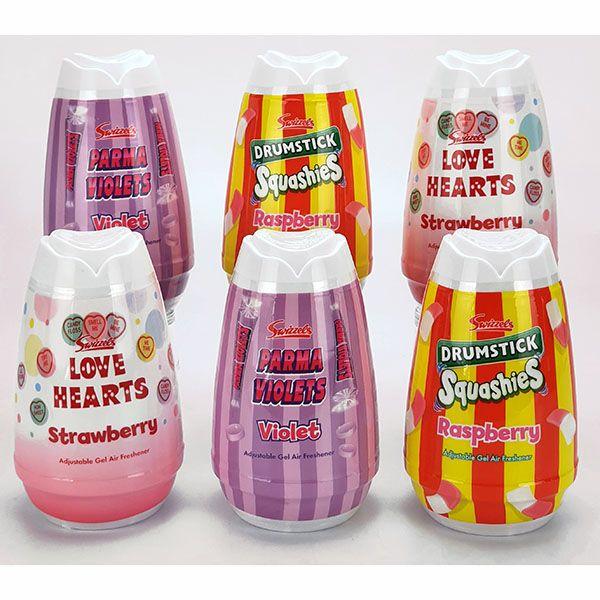 6 x retro swizzels sweets adjustable gel air fresheners - £10 @ Yankee Bundles