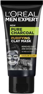 L'Oreal Paris Men Expert Pure Charcoal Purifying Clay Mask 50ml - £2.97 Prime (+£4.49 non prime) @ Amazon