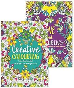 Adult colouring books set of 2 Anti-Stress - Colour Therapy Patterns £3.59sold by love bargains at Amazon