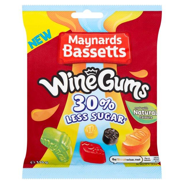 Maynards Bassetts Wine Gums 30% Less Sugar 130g - 49p in-store @ Heron Foods Bury