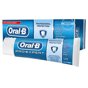 Oral-B Pro Expert Professional Protection Clean Mint Toothpaste, 75 ml £1 (Min £15 spend + £3.99 or free with 4 items) at Amazon Pantry