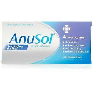 Anusol 4 WAY Soothing Relief 12 Suppositories - £2.88 @ 24hourchemist / eBay