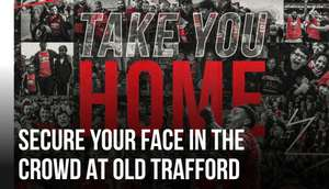 Get your face in the crowd Mosaic at Old Trafford via Manchester United FC App