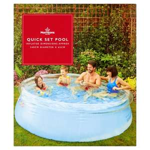 Morrisons 8ft Quick Set Family Pool Now £20 in store Morrisons Rothwell Leeds