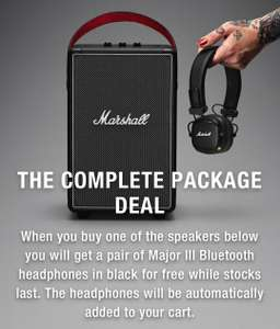 Free Major III Bluetooth headphones when you buy a Marshall speaker from £169.99 at Marshall Headphones Shop