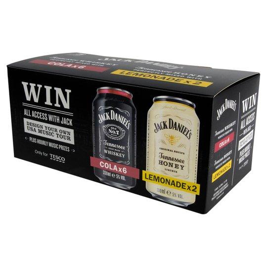 *NEW* Jack Daniels Perfectly Mixed 8 X 330Ml £10 @ Tesco