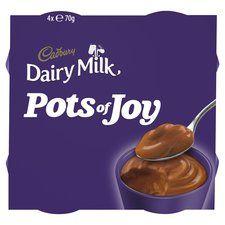 Cadbury Pots Of Joy 4 Pack Dairy Milk Chunk 4 X 70G Heron (Warrington) 89p
