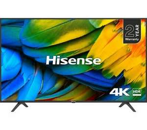 """Hisense H50B7100UK (2019) LED HDR 4K Ultra HD Smart TV, 50"""" with Freeview Play, Black + 2 Year Warranty - £269.10 with code @ Currys / eBay"""