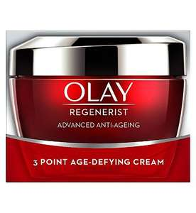 Olay Regenerist 3 Point Firming Anti-Ageing Cream Moisturiser 50ml - £10 + £1.50 c&c / £3.50 delivery at Boots