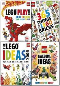 Lego Ideas 4 book collection £21.95 delivered @ Books4people