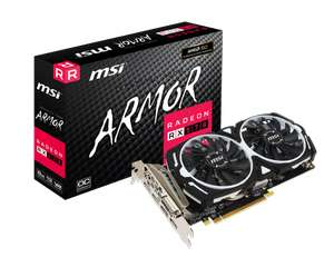MSI AMD Radeon RX 570 8GB ARMOR OC Graphics Card 14nm Polaris 2048 Streams opened, unused - £139.99 delivered @ compadvance_outlet / eBay
