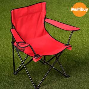 Folding Camping Chair with Cup Holder - £7 or 2 for £12 in store @ B&M, Rothwell Leeds
