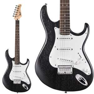 Cort G100 Open Pore Black Electric Guitar - £102 With 1.5m Stagg Cable / £102.95 For the Guitar Alone @ Reidys