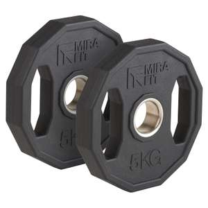 Mirafit 2 x 5kg Olympic Weight Plates - £26.95 + £4.95 delivery at Mirafit