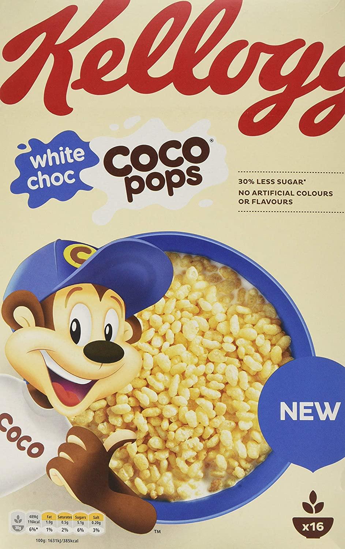 White choc coco pops 480g, Brunch bars 5 bars, Kellogs Nurtigrain bars 6 bars 49p Farmfoods Huddersfield