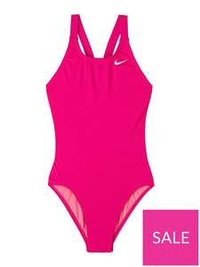 Nike Girls Performance Fastback One Piece Swimsuit - Pink Age 15/16 £10.59 delivered @ Very