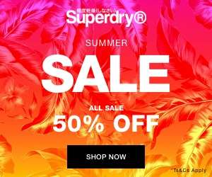 50% Off in the Superdry Summer Sale + FREE delivery & Returns @ Superdry